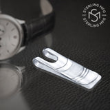 Sterling Silver .925 Elegant Solid Design Engravable Money Clip, Designed and Made In Italy. By Sterling Manufacturers