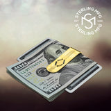 Sterling Silver .925 Money Clip, Engravable Solid Design, Designed and Made In Italy. By Sterling Manufacturers
