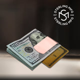 Sterling Silver .925 Money Clip, Solid Design, Engravable, Designed and Made In Italy. By Sterling Manufacturers