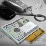 Sterling Silver .925 Dollar Sign Money Clip. Designed and Made In Italy. By Sterling Manufacturers