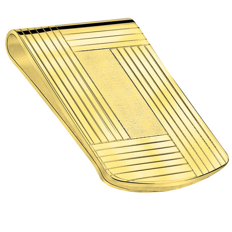 FB Jewels Solid Polished and Satin Engraveable Money Clip