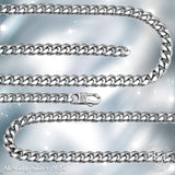 Cuban Link Chain - Platinium Plated 10.2 MM Solid .925 Sterling Silver Miami Cuban Twisted Link Chain For Men - Chain / Bracelet With Secure LinxLock Classic | Made in Italy by Sterling Manufacturers