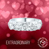 Women's Sterling Silver .925 Zig-Zag Design Wedding Engagement Ring Featuring a Sparkling Oval Cubic Zirconia (CZ) Center Stone, Platinum Plated Jewelry