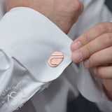 Men's Sterling Silver .925 Oval Cufflinks with Satin finish. Engravable. Made In Italy. 22mm by 14mm