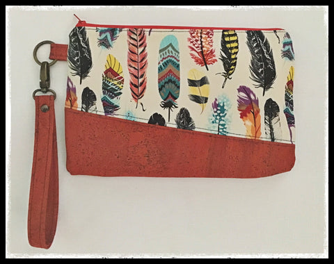 Carissa Clutch Feathers