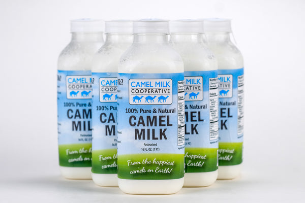 Pure, Fresh, Pasteurized Camel Milk. 6 Pack One Pint Bottles. $12/Pint FRESH