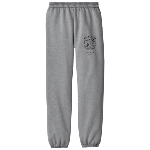 Fleece Sweat Pants for Students - White & Gray