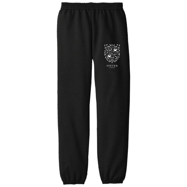Fleece Sweat Pants for Students - Black & Blue