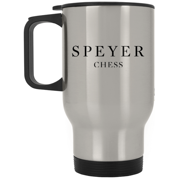 Chess -  Silver Stainless Travel Mug