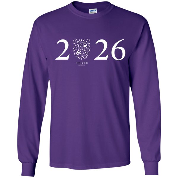 Class of 2026 Long Sleeve T-Shirt, YS/YM/YL/YXL