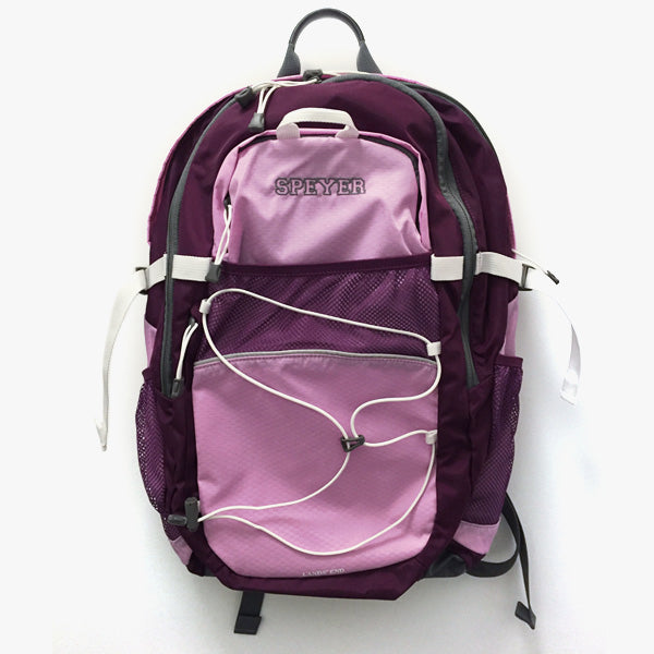 Speyer Logo Backpack by Lands End, Pink/Plum