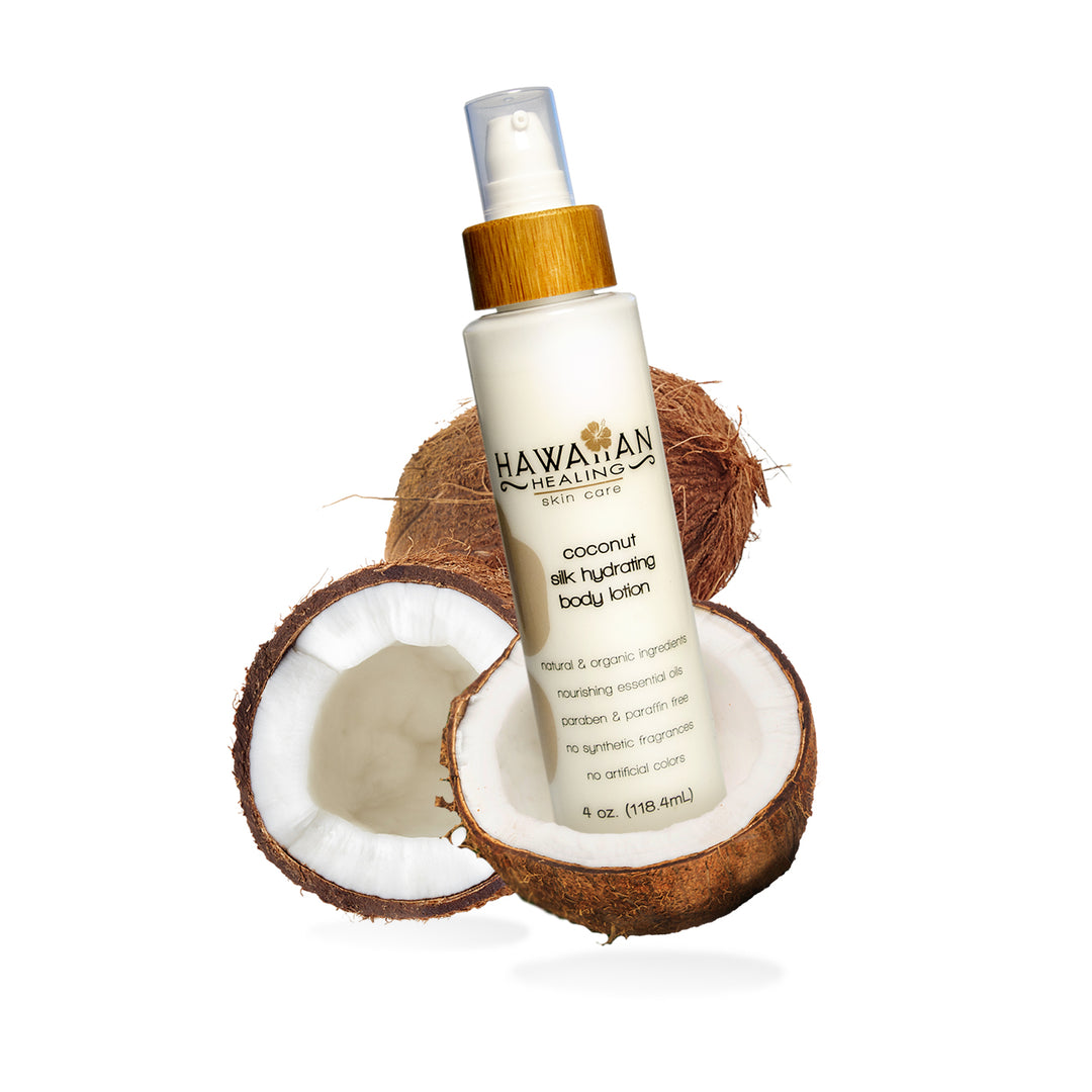 Natural Coconut Scented Silk Hydrating Body Lotion - 4 oz bottle