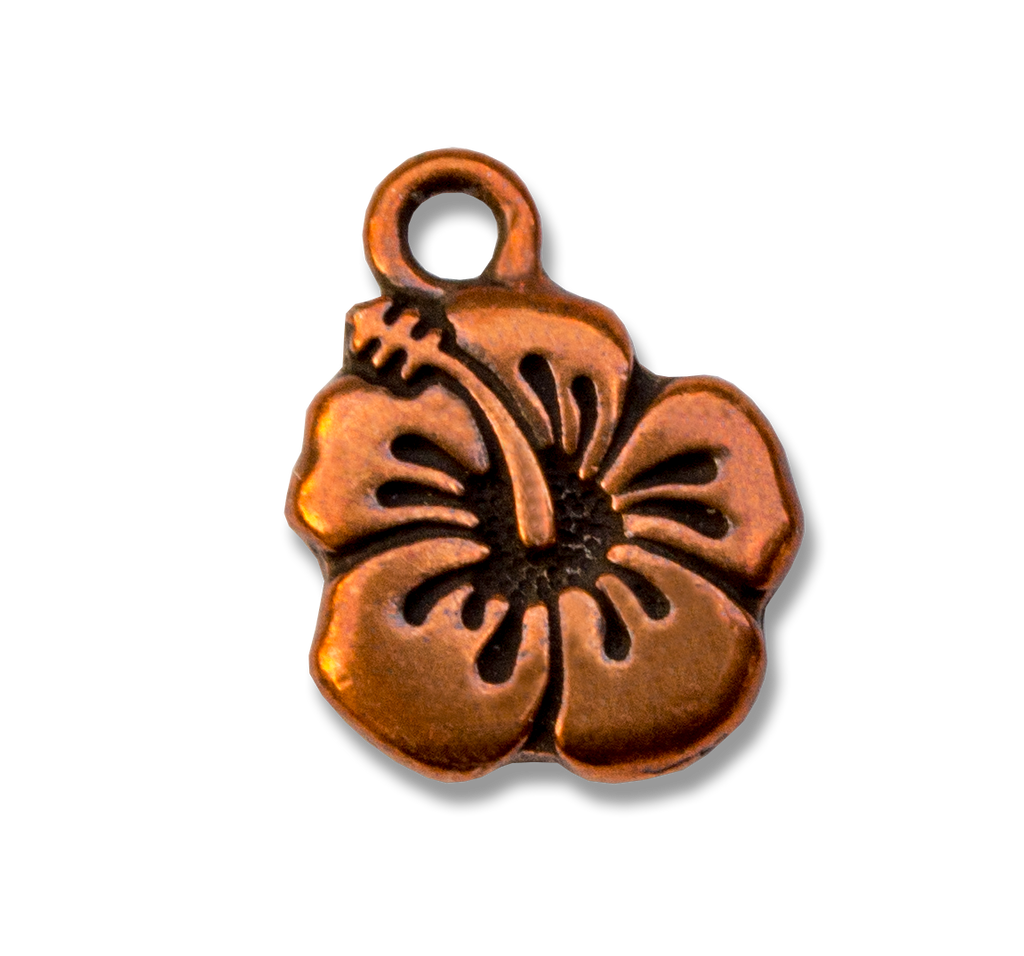 Hawaiian Healing Hibiscus Copper Charm