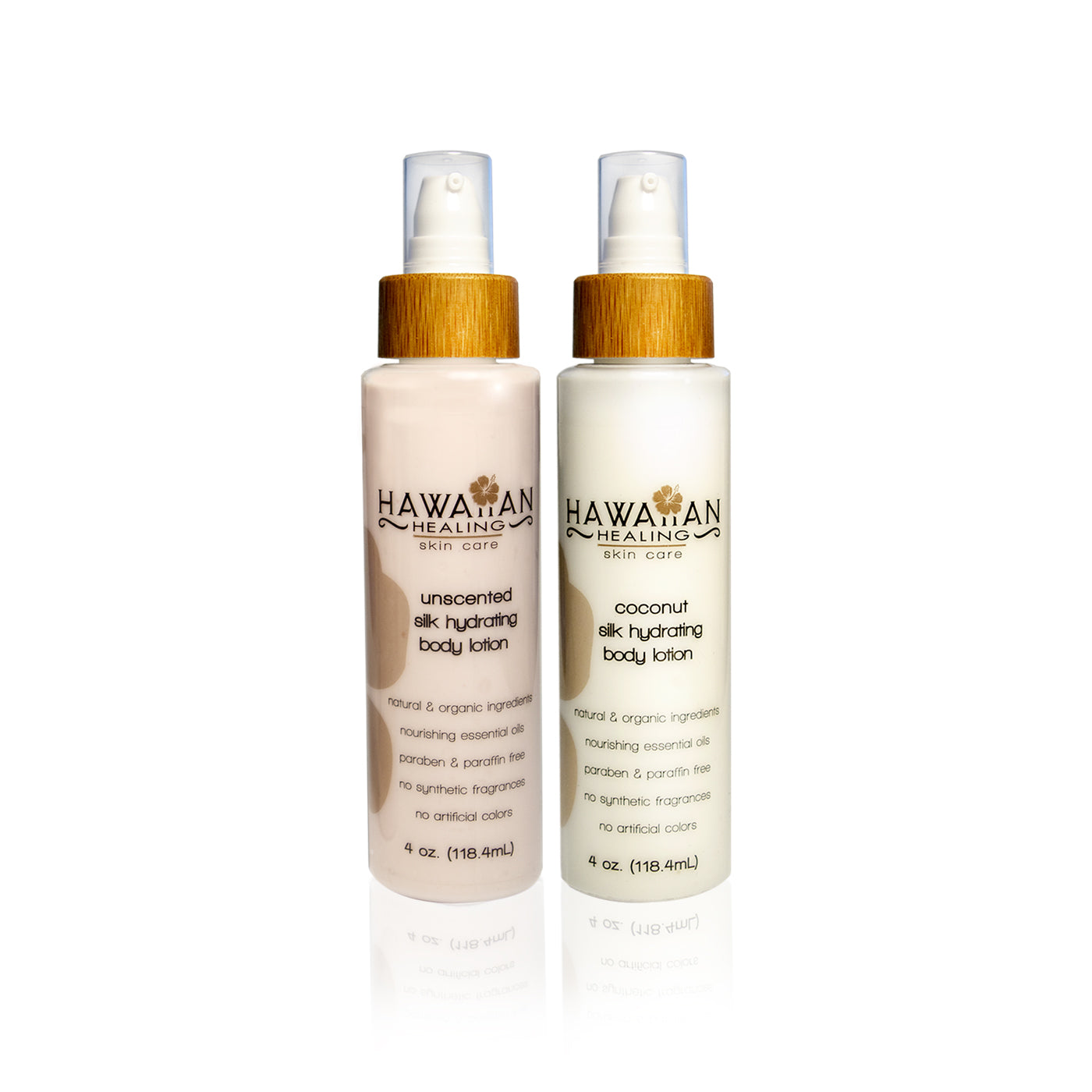 Silk Hydrating Body Lotion Set (Coconut and Unscented)