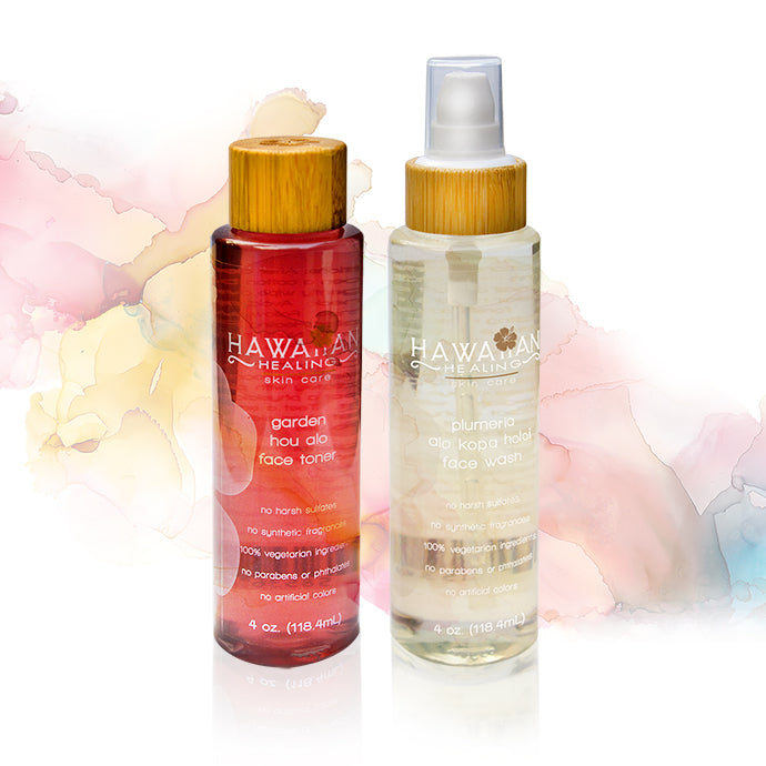Hawaiian Healing Soothing Cleanser Toner Duo - Hawaiian Healing
