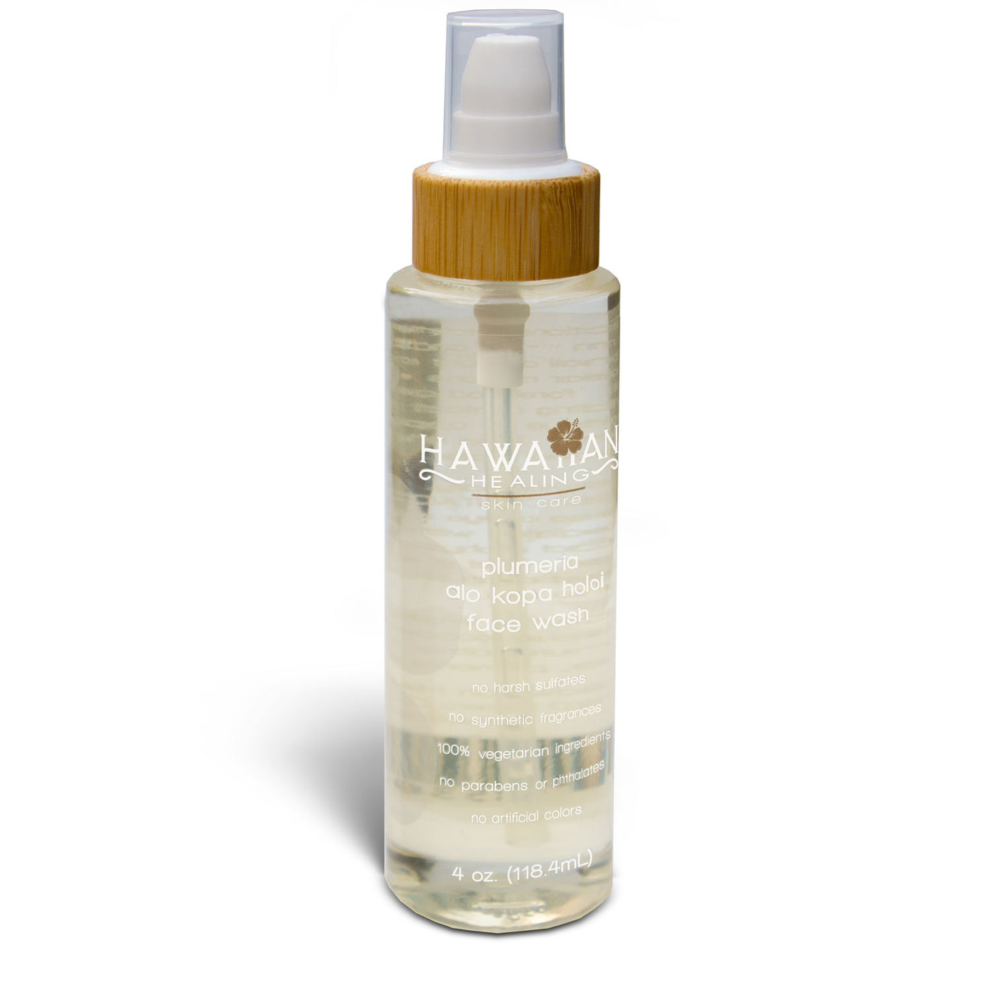 Plumeria Alo Kopa Holoi Face Wash - 4oz bottle - Hawaiian Healing