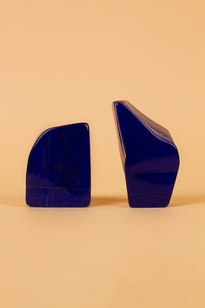 Lapis Crystal Bookends