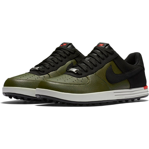 Men's - NIKE LUNAR FORCE 1 G - Cargo Khaki/Black-Max Orange-Light Bone