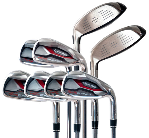 Taylormade Aeroburner HL Combo Set -  3 & 4 Hybrid/Rescue (Graphite Shafts), 5 - PW (Steel Shafts)
