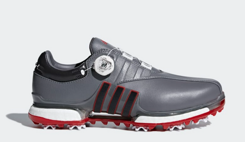 TOUR360 EQT BOA SHOES - GREY / UTILITY BLACK / SCARLET