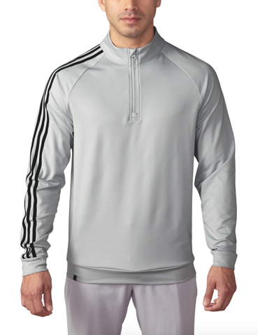 ADIDAS GOLF - Stone - 3 Stripes 1/4 Zip Pullover