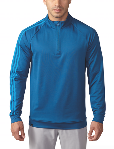 ADIDAS GOLF - Blue - 3 Stripes 1/4 Zip Pullover