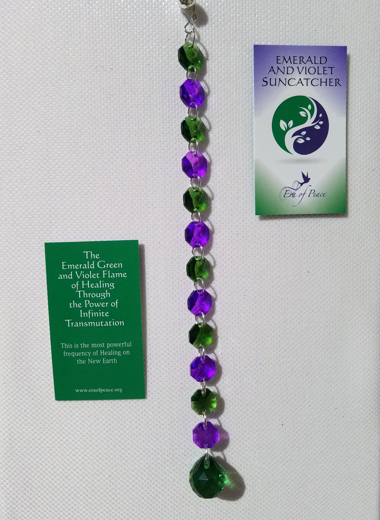 Emerald and Violet Suncatcher