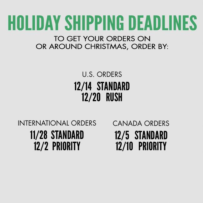 Shipping Deadlines for Cannabis Cup Store