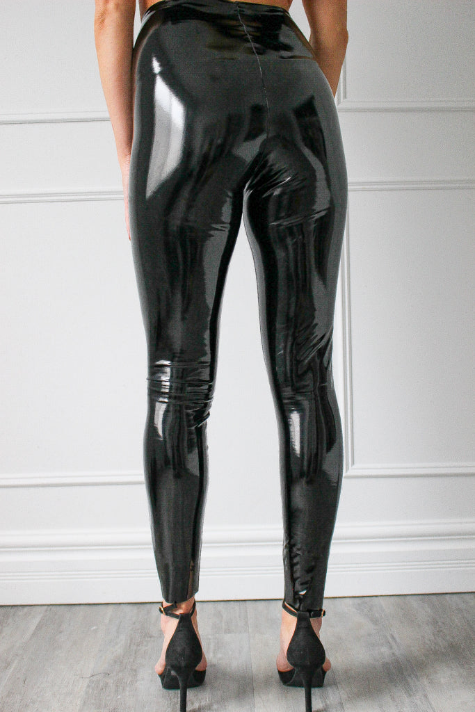 NEW COMMANDO PATENT LEATHER LEGGING (BLACK)