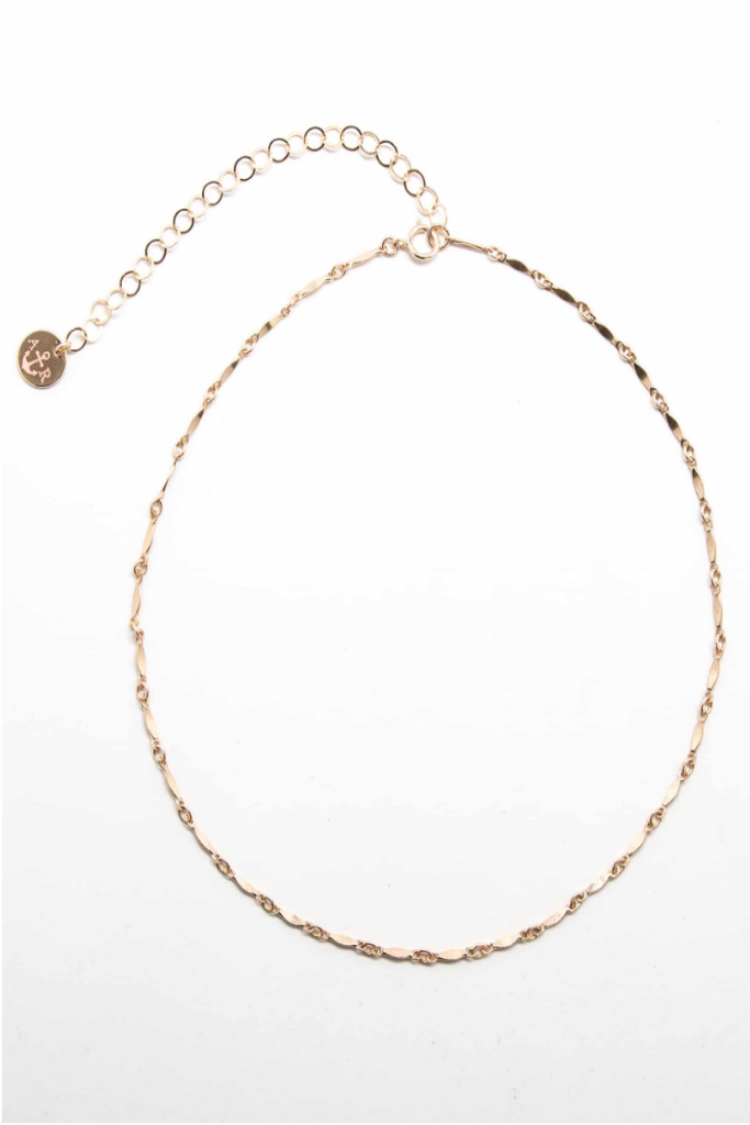 GOLD CHAIN LINK CHOKER NECKLACE