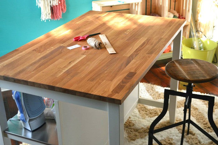 Alternative Uses For An Ikea Kitchen Island: Crafting Desk