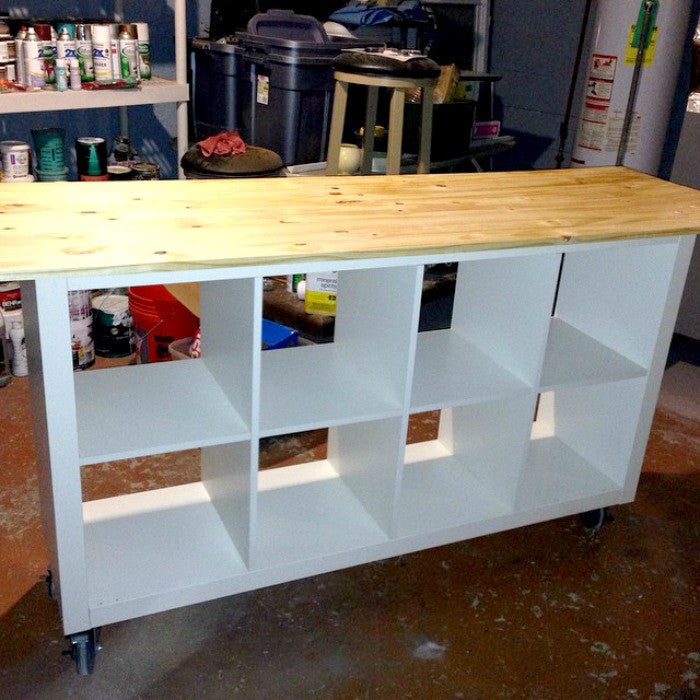 Ikea Hack Diy Work Table Using Ikea Expedit Bookcase