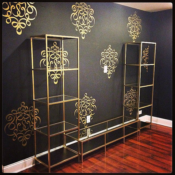 Ikea Hack Gold Shelving Unit For The Bedroom Astral Riles