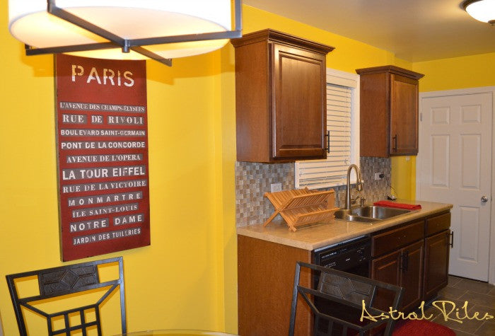 Budget Friendly Kitchen Facelift: From Somber Red to Sunnyside Yellow