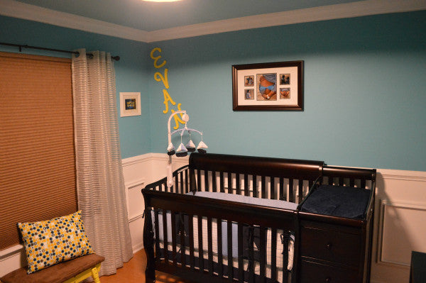 Turquoise and White Nursery Makeover