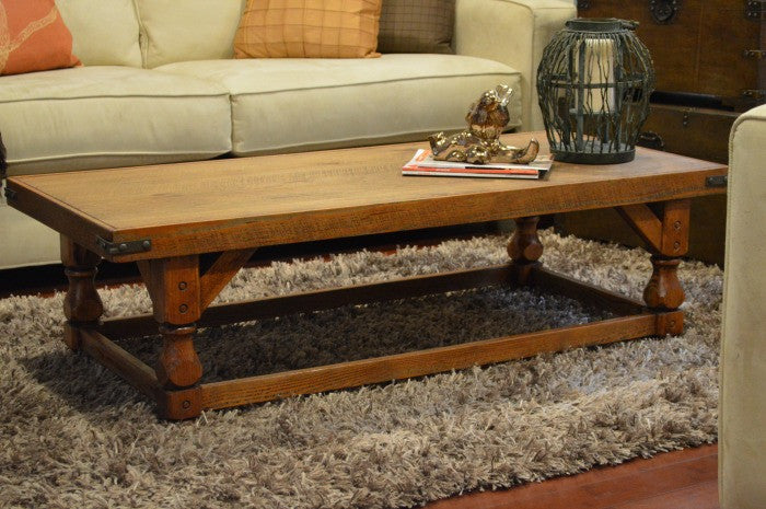 Re-stained coffee table