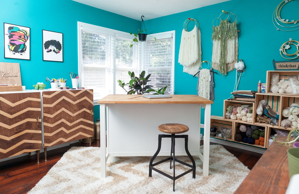 Home Studio Craft Room Makeover Using