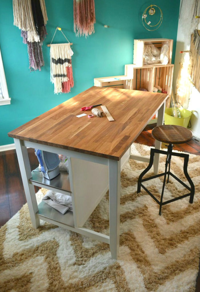 1 kitchen island as craft desk on astralriles