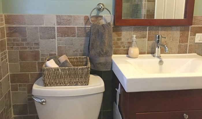 small bathroom update under 100 on astral riles blog