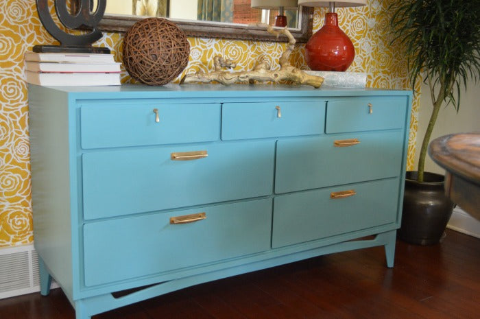 AFTER - turqouise dresser