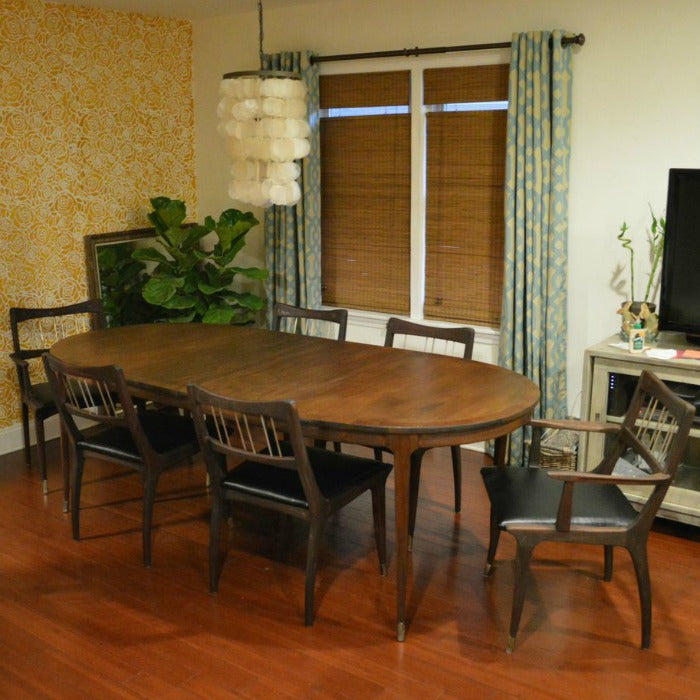 After 2 -  refinished MCM dining table on astralriles.com