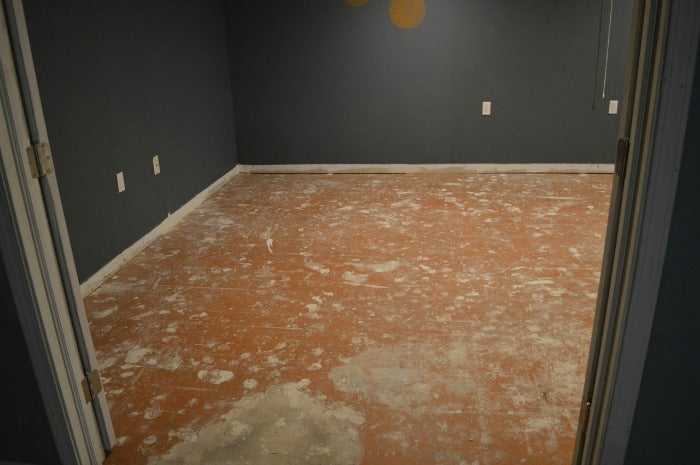 After laminate flooring removal 4