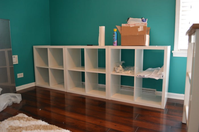BEFORE - kallax bookcase 2