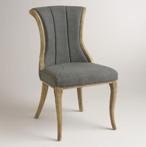 Charcoal Channel Back Dining Chairs_world market - on Astral Riles blog