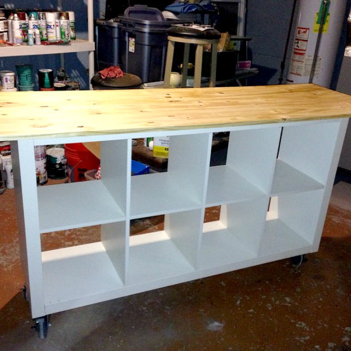 DIY - ikea hack - work table on astralriles.com