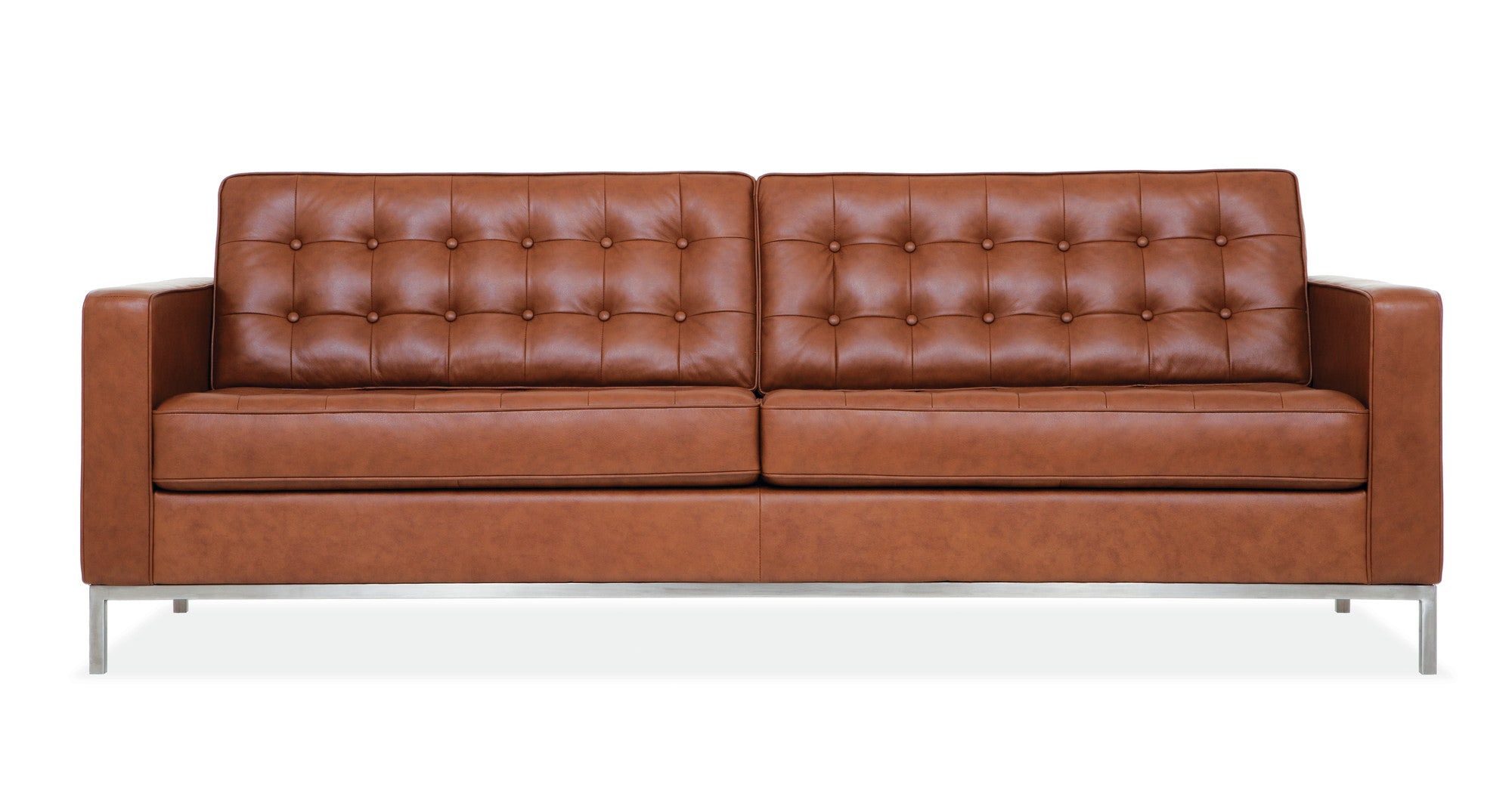 EQ3 Reverie Leather Convertible Loveseat at AllModern on astralriles.com