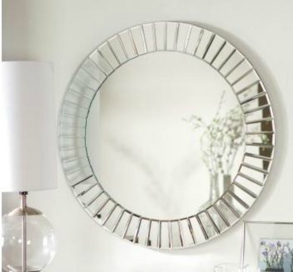 Fortune Modern Frameless Beveled Wall Mirror Hayneedle.com $139.98