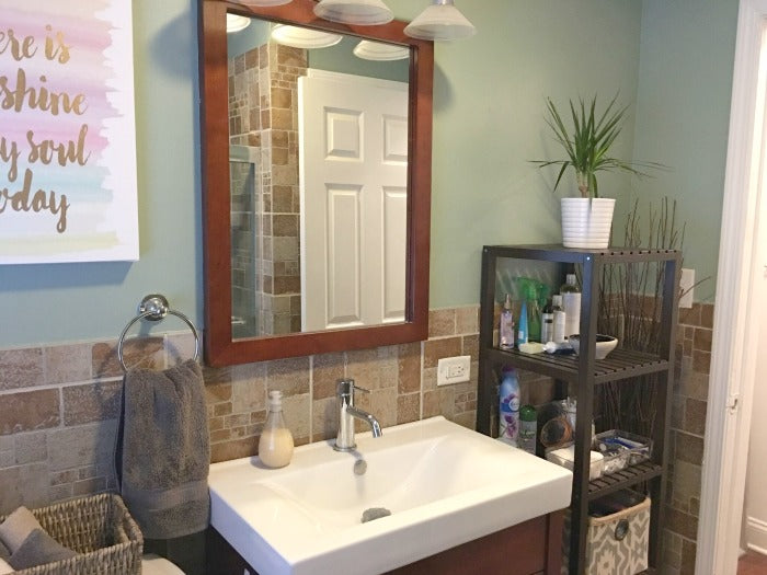 Inexpensive Bathroom Update For Under 125 on astral riles blog 8