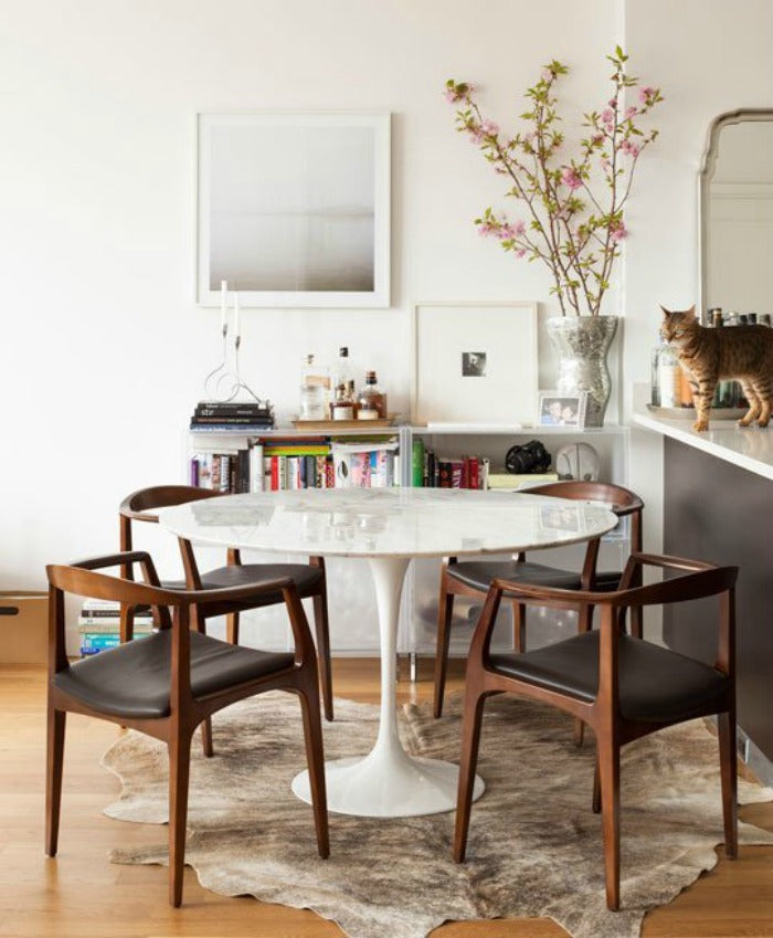 My Search For The Perfect Saarinen Style Dining Table On A Budget - Cb2 tulip table
