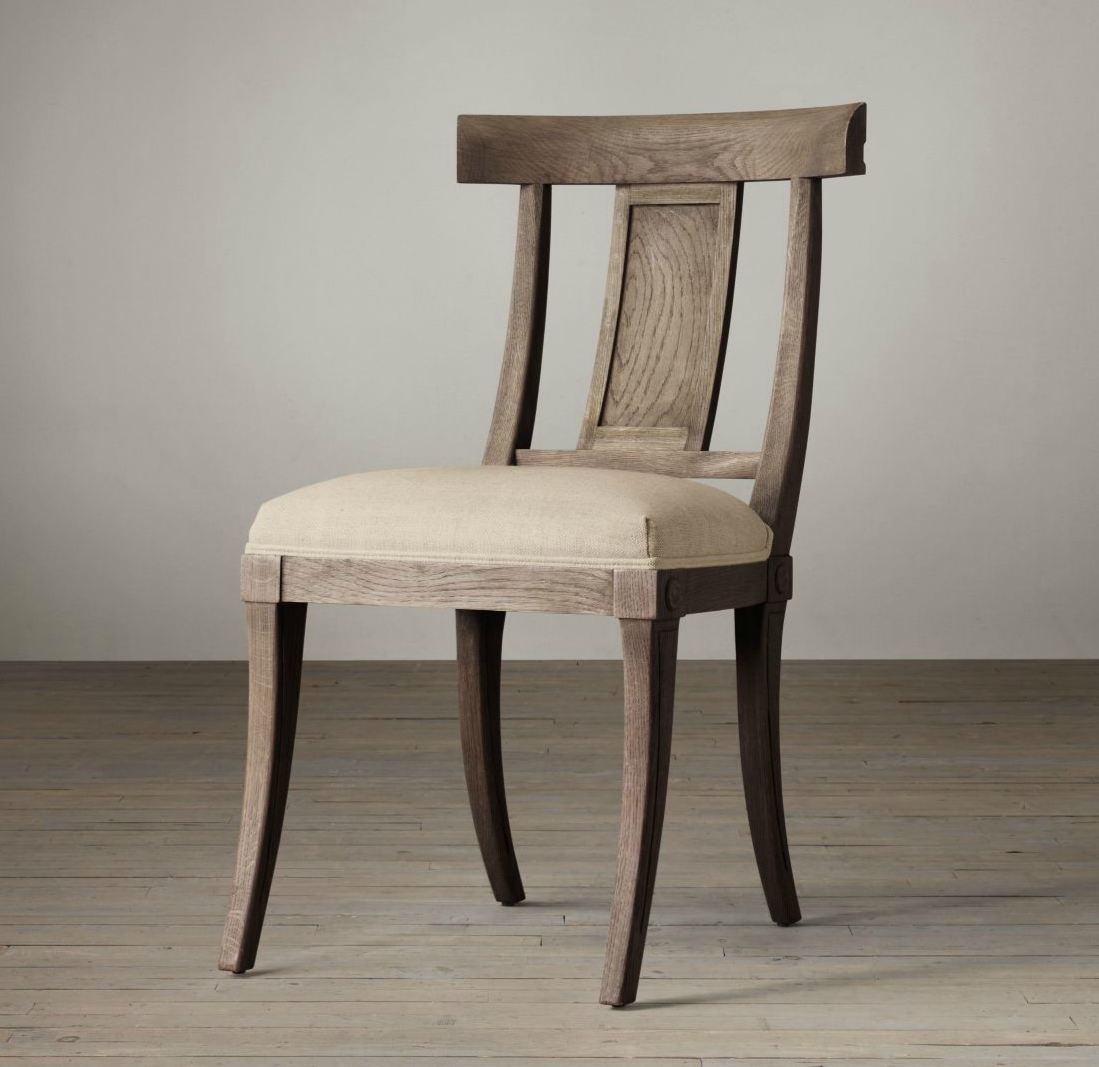 KLISMOS FABRIC SIDE CHAIR - restoration hardware - on Astral Riles blog